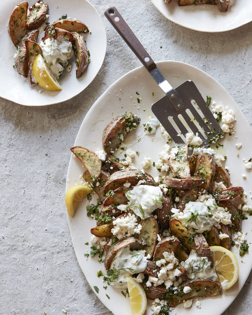 Greek Fries from www.whatsgabycooking.com (@whatsgabycookin)